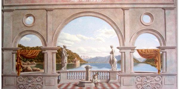 décors trompe l'oeil italien